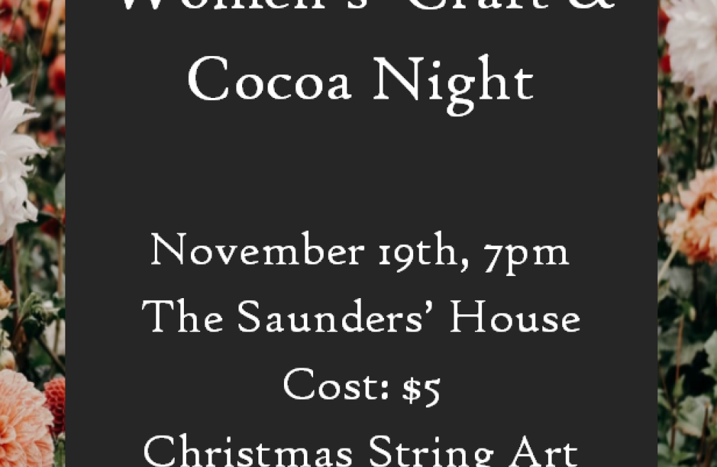 Women's Craft and Cocoa Night